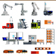 Warehouse Robots Flat Icons - GraphicRiver Item for Sale