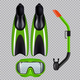 Diving Set Realistic Transparent - GraphicRiver Item for Sale