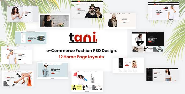 Tani - e-Commerce Fashion PSD Template - Fashion Retail