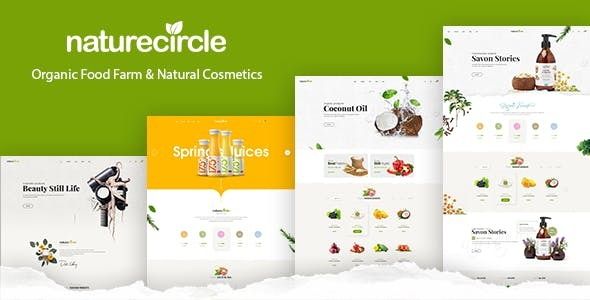 Naturecircle - eCommerce Bootstrap 4 Template - Food Retail