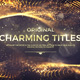 Charming Titles - VideoHive Item for Sale