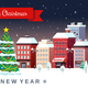 Winter Christmas Holidays City Illustration - GraphicRiver Item for Sale