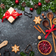 Christmas background. Table for holiday baking cookies - PhotoDune Item for Sale