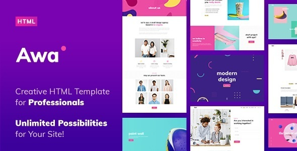 AWA - Portfolio HTML Template - Portfolio Creative