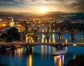 Bridges of Prague in evening - PhotoDune Item for Sale