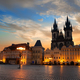 Prague square at sunrise - PhotoDune Item for Sale