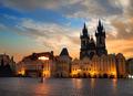 Prague square at sunrise - PhotoDune Item for Sale