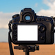 DSLR camera mock up screen outdoor - PhotoDune Item for Sale