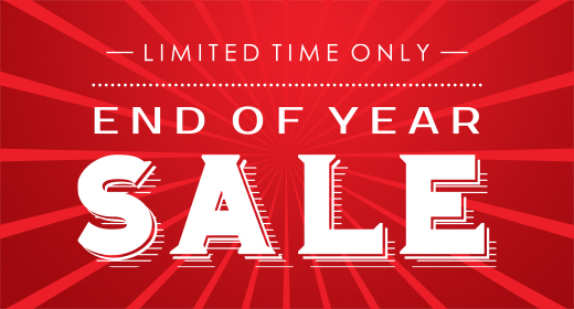 !END OF YEAR SALE!