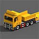 Voxel Truck And Loader Trailer - 3DOcean Item for Sale