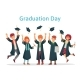 Graduate Students. Graduation Day of University - GraphicRiver Item for Sale