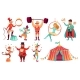 Circus Characters. Juggling Animals, Juggler - GraphicRiver Item for Sale