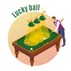 Lucky Ball Isometric Background - GraphicRiver Item for Sale