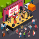 Music Festival Isometric Composition - GraphicRiver Item for Sale