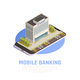 Online Banking Isometric Composition - GraphicRiver Item for Sale