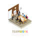Teamwork Collaboration Isometric Composition - GraphicRiver Item for Sale