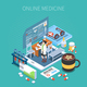Online Medicine Isometric Composition - GraphicRiver Item for Sale