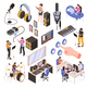 Audio Studio Isometric Set - GraphicRiver Item for Sale