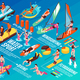 Water Sport Isometric Infographics - GraphicRiver Item for Sale