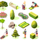 Landscaping Isometric Icons - GraphicRiver Item for Sale