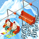 Ski Resort Funicular Isometric Background - GraphicRiver Item for Sale