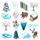 Winter Landscaping Isometric Icons - GraphicRiver Item for Sale