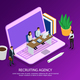 Recruiting Agency Isometric Composition - GraphicRiver Item for Sale
