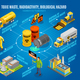 Toxic Waste Hazard Isometric Flowchart - GraphicRiver Item for Sale