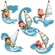 Set of Cartoon Children Sailing - GraphicRiver Item for Sale