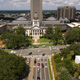 Flags Blow Atop Traffic Below The Capital Dome in Tallahassee Fl - PhotoDune Item for Sale