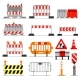 Free Download Road Barrier Vector Nulled