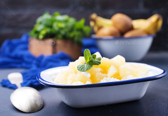 cottage with pineapple - Stock Photo - Images