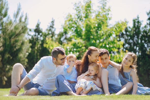 Big happy family - Stock Photo - Images