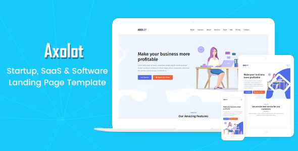 Axolot - Startup, SaaS & Software Landing Page Template