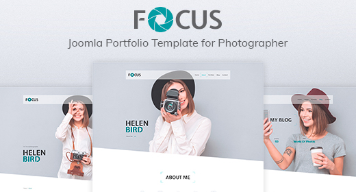 Focus — Портфолио фотографа, адаптивный шаблон для Joomla