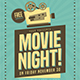 Retro Movie Night Event Flyer - GraphicRiver Item for Sale