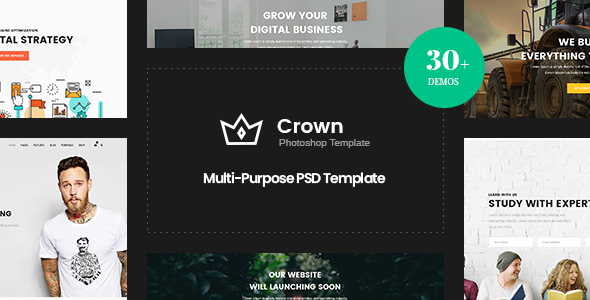 Crown | Multi-Purpose PSD Template - Business Corporate