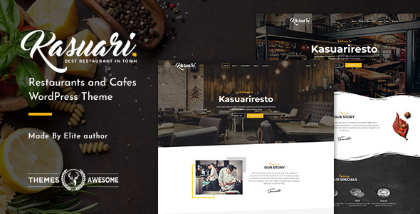 Kasuari | Restaurants and Cafes WordPress Theme - Restaurants & Cafes Entertainment