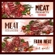 Free Download Vector Meat Product Banners for Butchery Shop Nulled