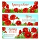 Vector Spring Time Flowers on Greeting Banners Set - GraphicRiver Item for Sale