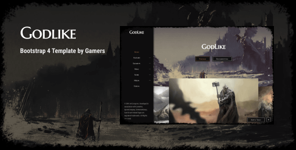 Godlike | The Game Template - Creative Site Templates
