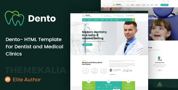 https://themeforest.net/item/dento-html-template-for-dentist-and-medical-clinics/23011140?ref=dexignzone