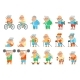 Healthy Activities Fitness Granny Grandfather - GraphicRiver Item for Sale