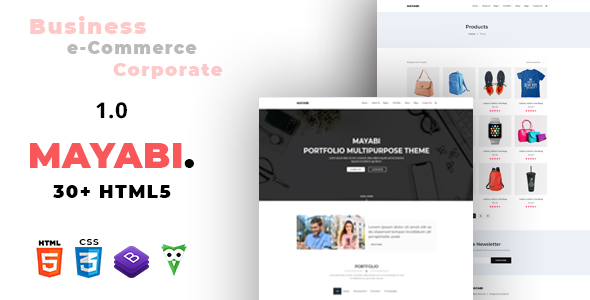 Mayabi - Multipurpose Portfolio/Business HTML5 Template - Corporate Site Templates