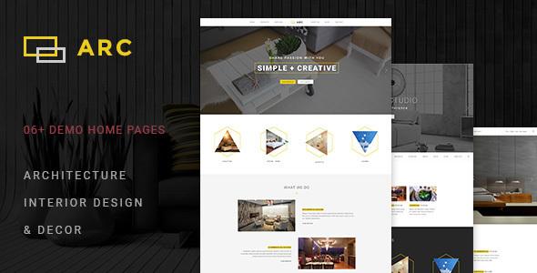 ARC - Interior Design, Decor, Architecture Business Joomla Template