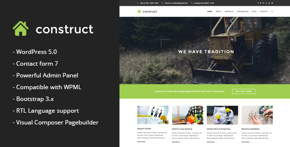 Construct - Construction & Business WordPress Them - Business Corporate