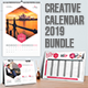 Creative Calendar 2019. Bundle 3 in 1 - GraphicRiver Item for Sale