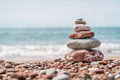 Pile of stones on the beach - PhotoDune Item for Sale