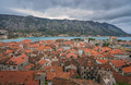 Red tiled rooftops of the Old Town in Kotor - PhotoDune Item for Sale
