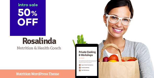 https://themeforest.net/item/rosalinda-health-coach-vegetarian-lifestyle-blog-wordpress-theme/22986587?ref=dexignzone